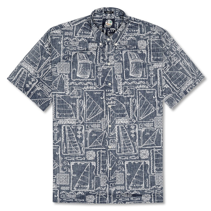 Reyn Spooner Sketch Ketch Classic Fit Button Front Shirt in INK