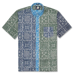Reyn Spooner Original Lahaina Color Block Weekend Wash Classic Fit Button Front Shirt in MULTI