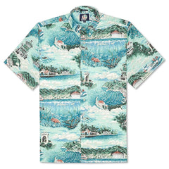 Reyn Spooner Avalon By The Sea Classic Fit Button Front Shirt in OCEAN WAVE