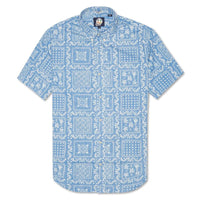 Reyn Spooner Original Lahaina Tailored Fit Button Front Shirt in MARINE