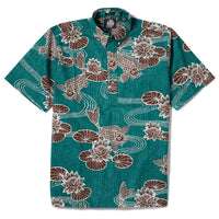 Reyn Spooner Kyoto Ponds Classic Fit in TEAL