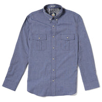 Reyn Spooner End On End Tailored Fit Button Front Long Sleeve in INK