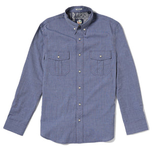 END ON END YARN DYE / TAILORED FIT BUTTON FRONT LONG SLEEVE