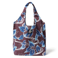 Reyn Spooner Food & Wine Large Shopping Bag in BURGUNDY