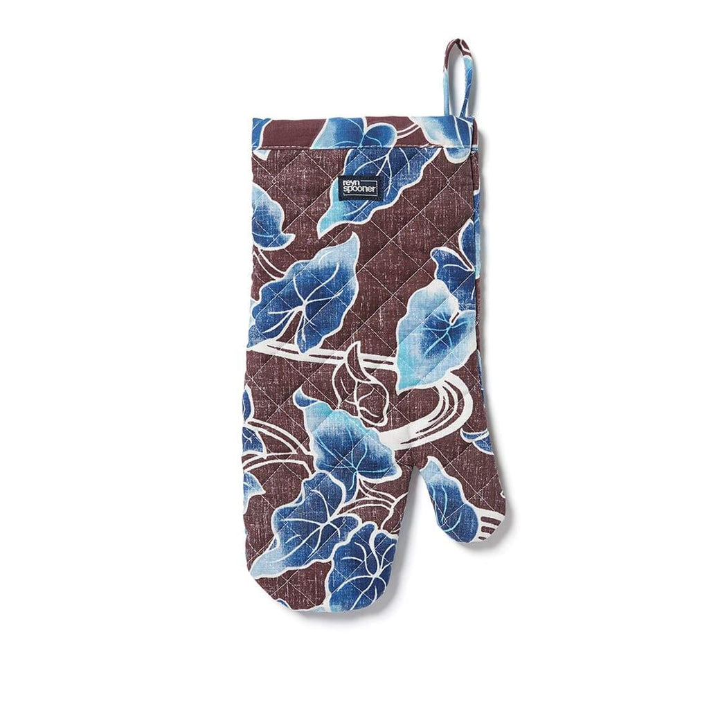 Reyn Spooner Food & Wine Oven Mitt in BURGUNDY