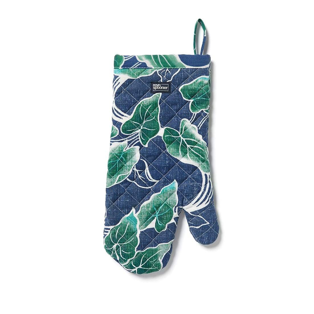 Reyn Spooner Food & Wine Oven Mitt in MEDIEVAL BLUE