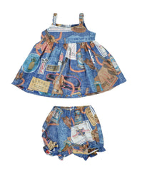 Kamaka Ukulele 100 Yrs- Toddler Sundress (6M to 18M) Navy