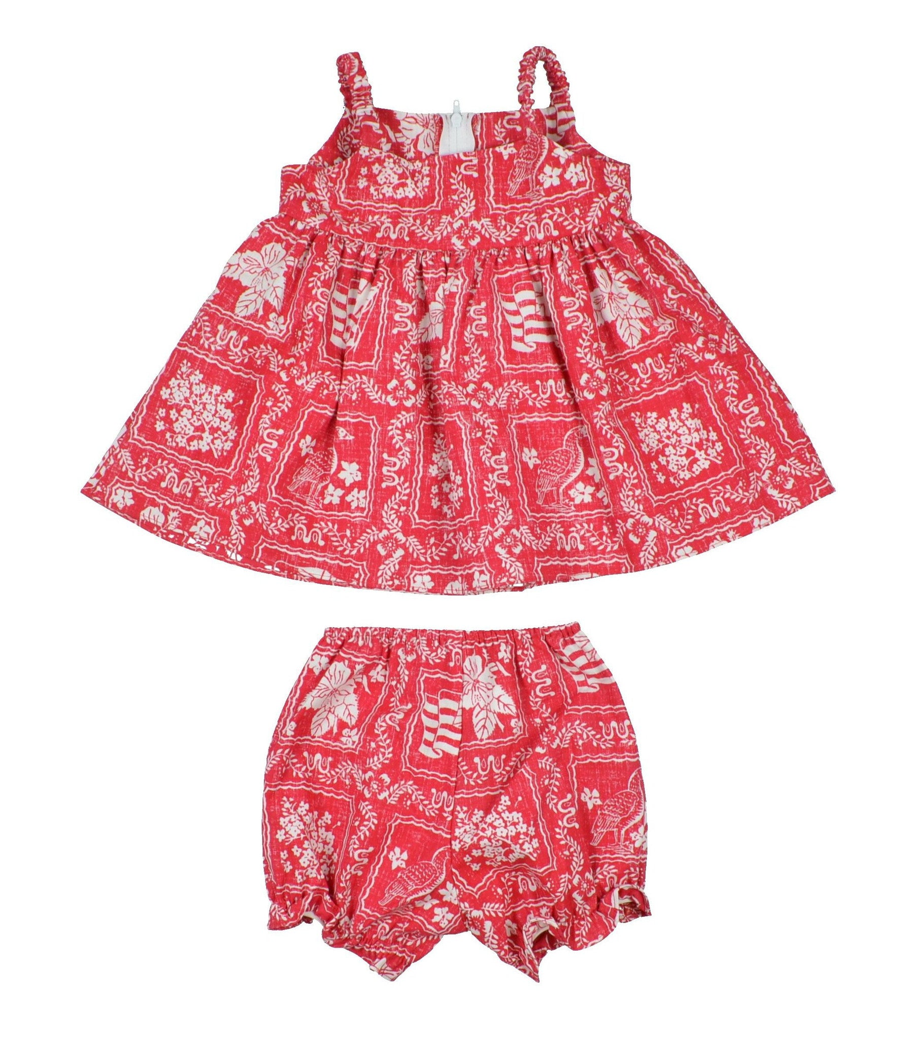 LAHAINA SAILOR / TODDLER DRESS WITH BLOOMERS • 6M-18M - Zoomed