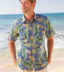 Plumeria Palms / Standard Fit  • Button Front