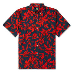 Reyn Spooner Vintage Pareau Hawaiian Shirt in NAVY and Red