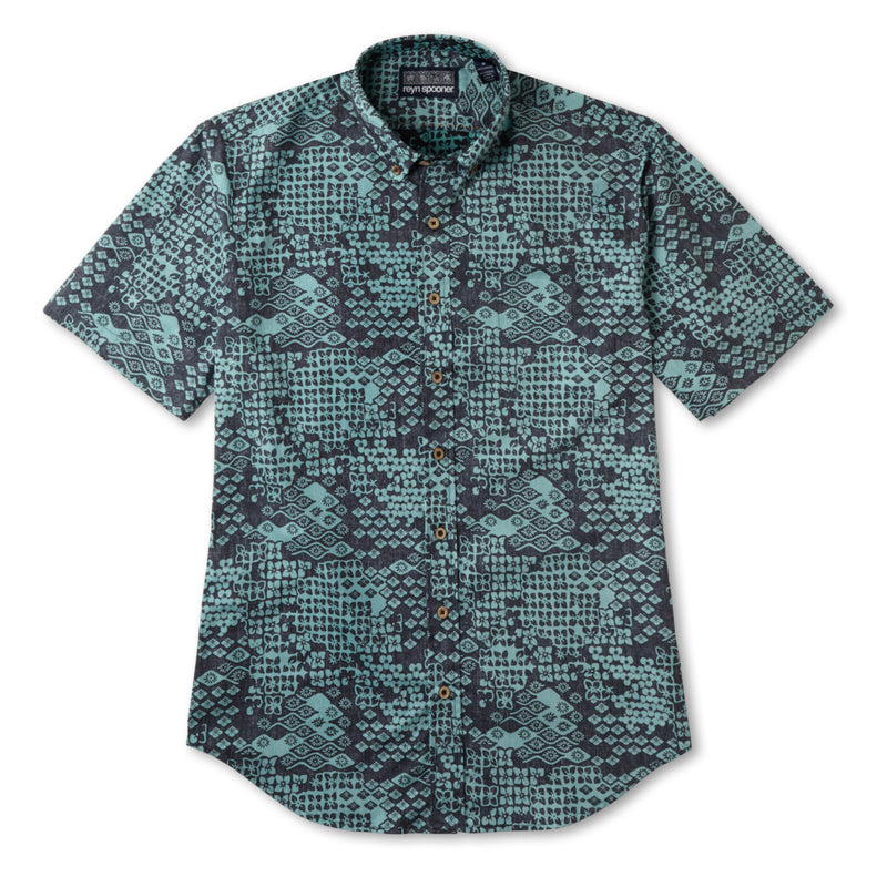 TROPICAL WASHI / TAILORED FIT BUTTON FRONT