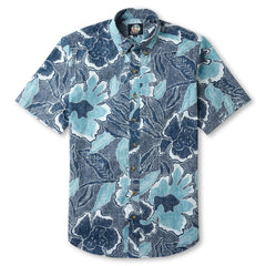 Reyn Spooner Floral printed Hawaiian Shirt in LAKE Blue