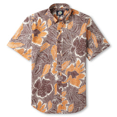 Reyn Spooner Floral printed Hawaiian Shirt in RUST