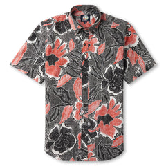 Reyn Spooner Floral printed Hawaiian Shirt in BLACK