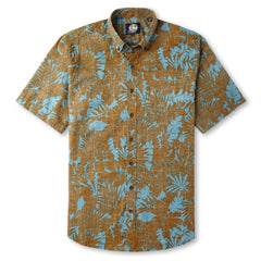 Reyn Spooner Mauna Ulupo Hawaiian Shirt in RUST