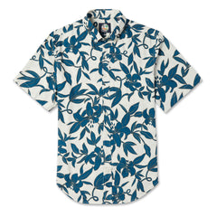 Reyn Spooner Vintage Print Hawaiian Shirt in NATURAL