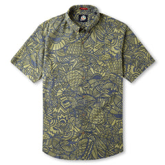 Reyn Spooner Hidden Tropics Hawaiian Shirt in NAVY