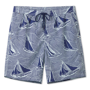 "HAWAIIAN SAILS / ELASTIC WAIST SWIMSUIT • 7"" INSEAM"
