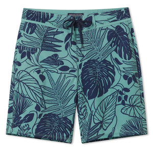 "KULA FOREST / 4-WAY STRETCH BOARDSHORTS • 9.5"" INSEAM"