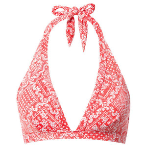 Reyn Spooner Diagonal Lahaina Halter Hook Top RED