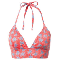 Reyn Spooner My Maui Palm Halter Tie Top RED