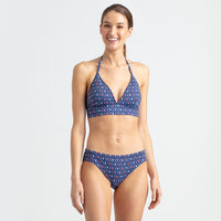Reyn Spooner Royal Honu Halter Tie Top NAVY