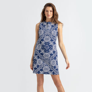 Reyn Spooner Kaimana Bandana Shift Dress NAVY