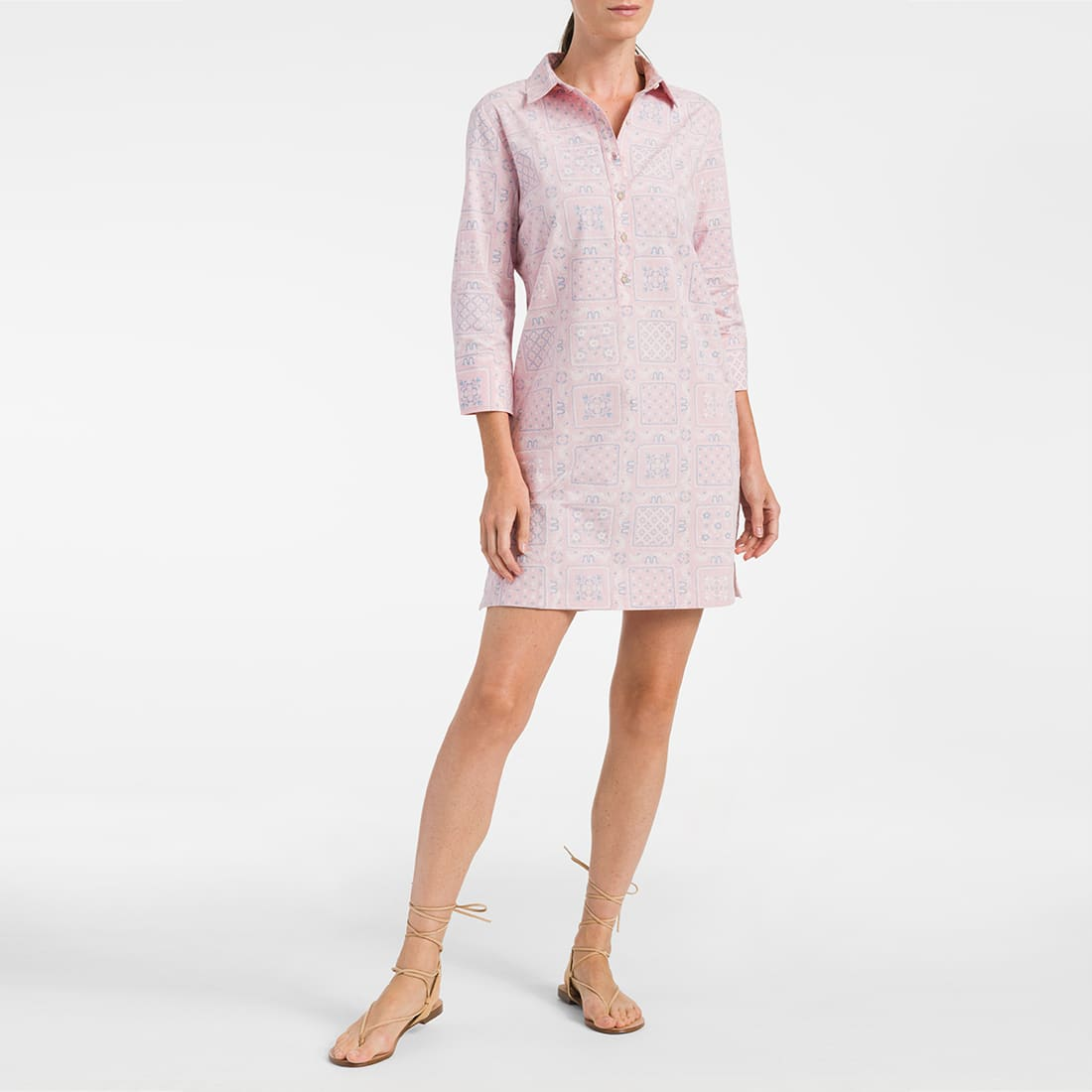 WOMENS SHIRT DRESS In Hawaii, we take care of our own. Thats why weve created a limited edition pink collection for Breast Cancer Awareness Month. A portion of the proceeds benefit the Womens Center at Kapiolani Medical Center. Pink; its the color of hope. Fit Guide XS S M L XL Size Comparison 4 6 8 10 12 Bust 32-33 1/2 34-35 1/2 36-37 1/2 38-39 1/2 40-41 1/2 Waist 27 28 29 30 31-31 1/2 Hip 37 38 39 40 41-41 1/2 Shirt Dress Three Quarter Sleeve Length 36 inches long Includes Hidden Pockets Tahitian Cotton - 100% Cotton Easy care; machine washable Designed in Hawaii. Think Pink Dress, Cotton, For Girls, L, From Reyn Spooner