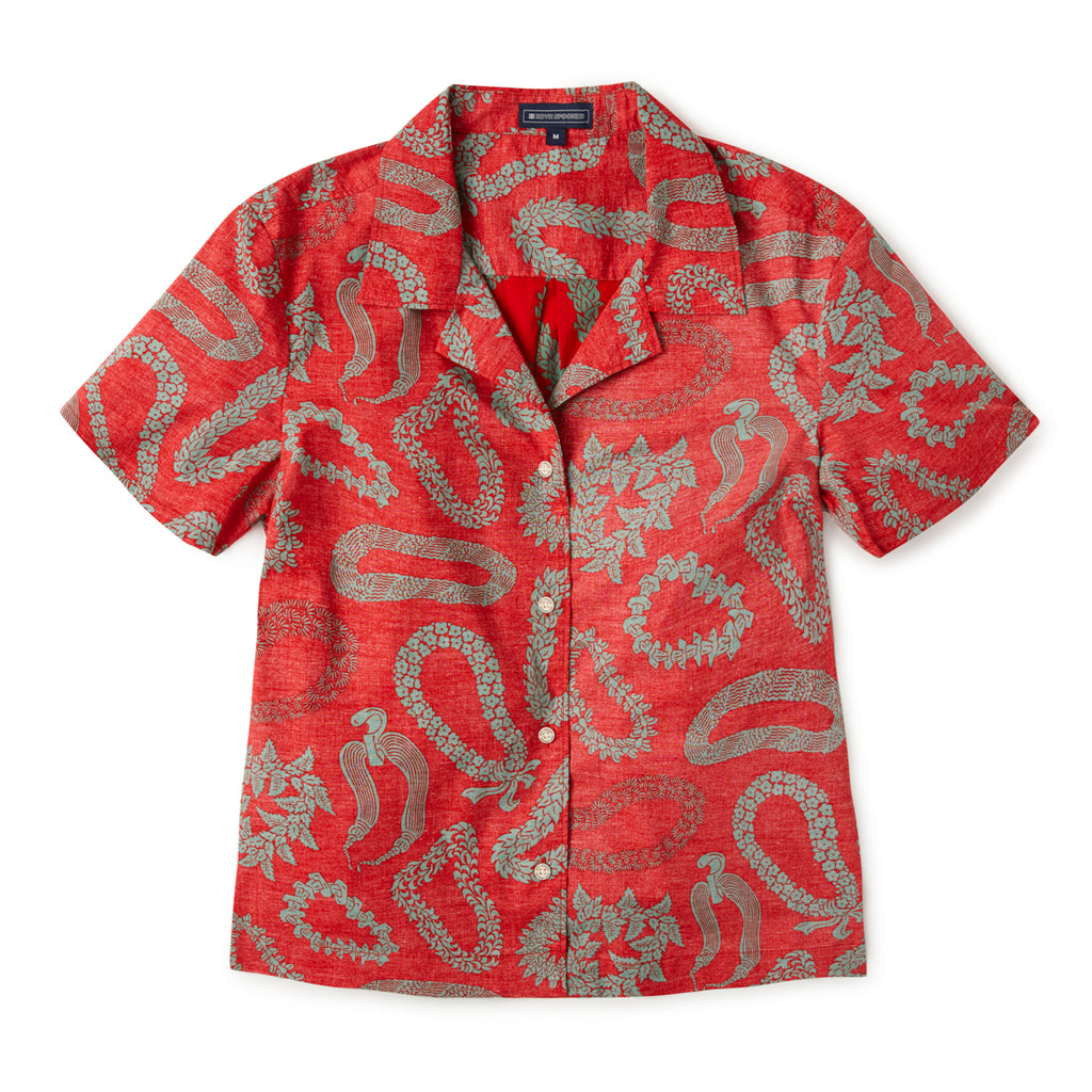 LEI'D BACK WOMENS CAMP SHIRT / Stretch Cotton