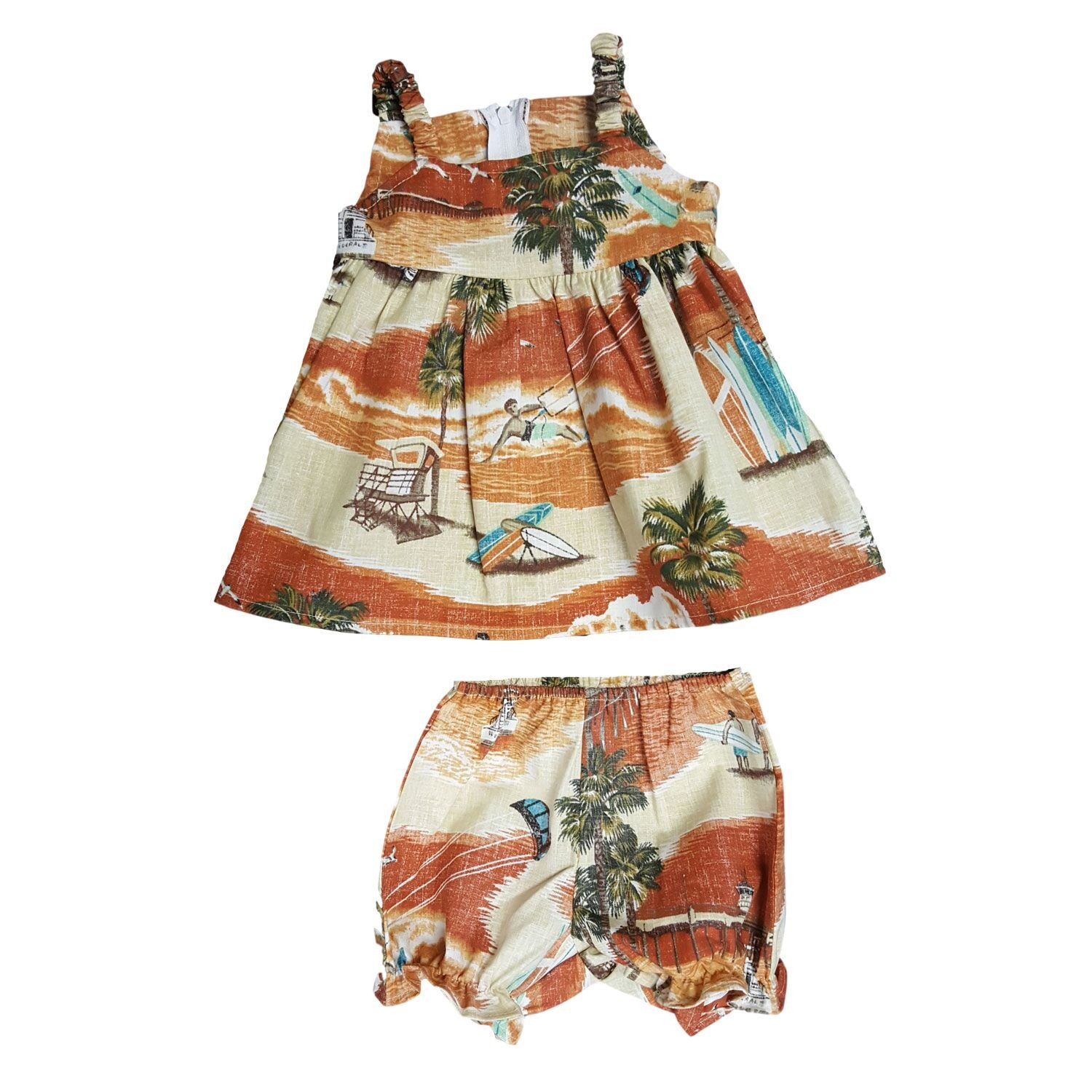 COASTAL TOWNS / TODDLER DRESS WITH BLOOMERS • 6M - 18M - Zoomed