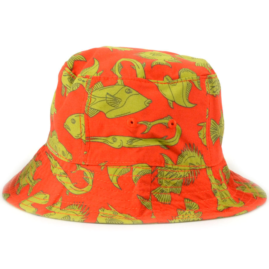 Kids Naho I'a Red Bucket Hat