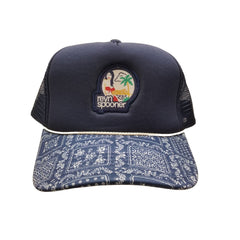 Reyn Spooner Hawaii Wahine Sailor Cap in NAVY
