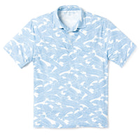Reyn Spooner PACIFIC CURRENT POLO in WHITE