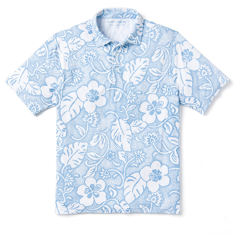 Reyn Spooner DOTTED PAREAU POLO in WHITE