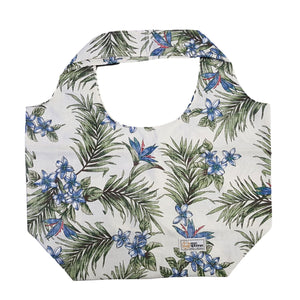 PLUMERIA PALMS / LARGE REUSABLE BAG