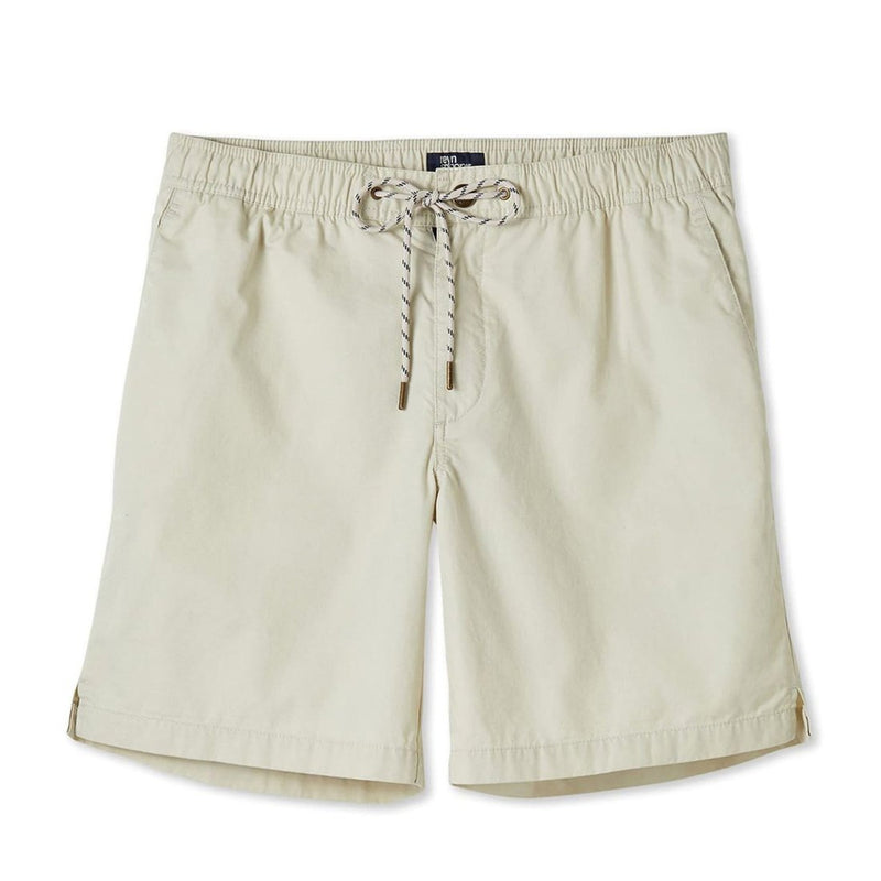 Reyn Spooner Men's beach shorts in Stone with drawstring elastic waistband