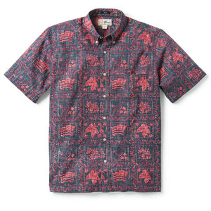 Reyn Spooner Lahaina Sailor / Classic Fit Weekend Wash Button Front in MOOD INDIGO BLUE