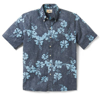 Reyn Spooner 50Th State Floral / Classic Fit Weekend Wash Button Front in DRESS BLUES
