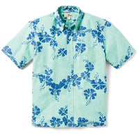 Reyn Spooner 50Th State Floral / Classic Fit Weekend Wash Button Front in PASTEL TURQUOISE