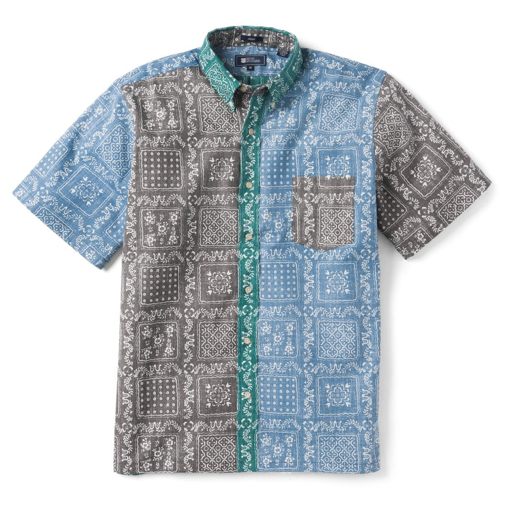 c075e1c0eed0 Reyn Spooner Original Lahaina Colorblock Classic Fit Button Front Shirt in  BRUSHED NICKEL