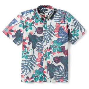 Reyn Spooner San Clemente Classic Fit Button Front Shirt in COCONUT MILK
