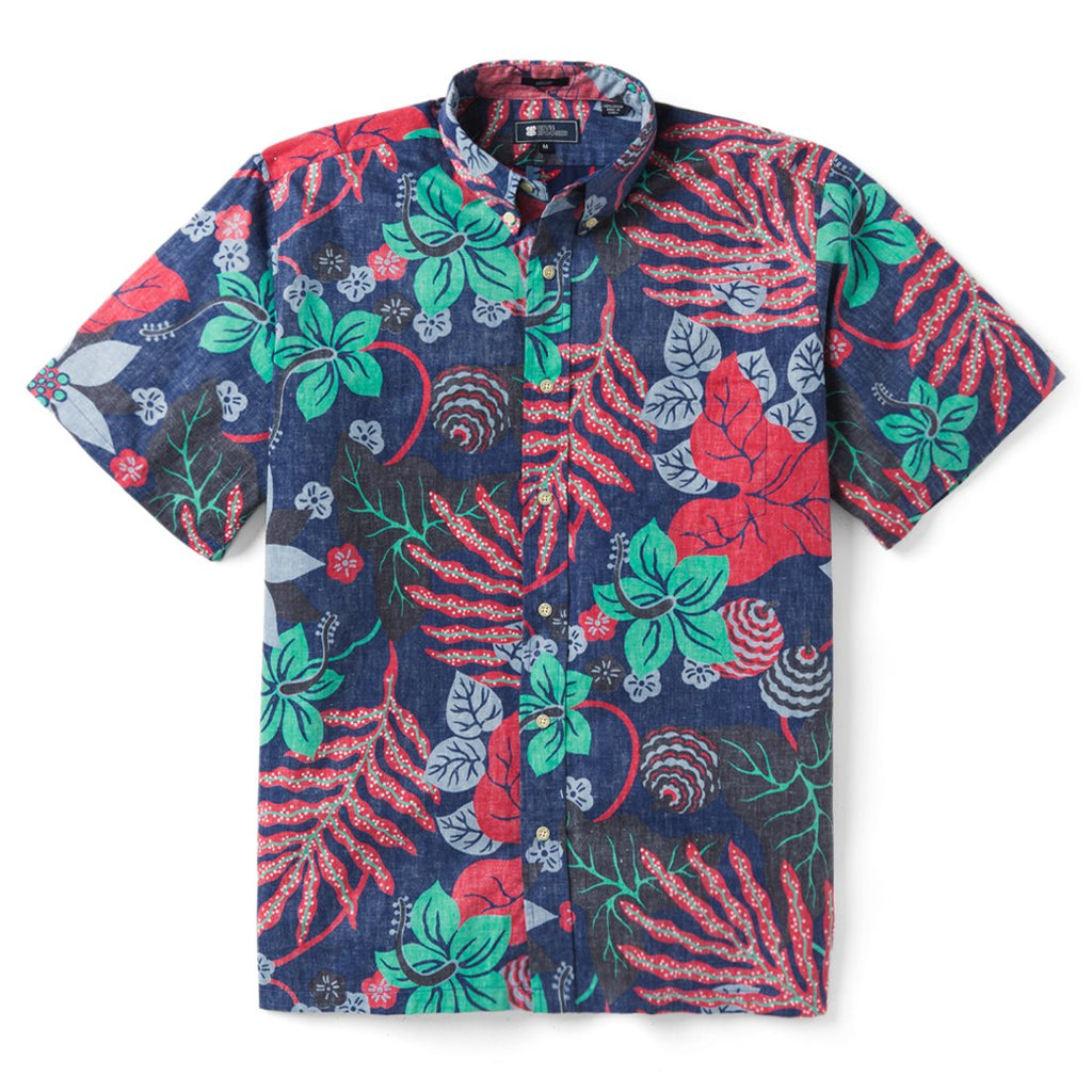 Reyn Spooner San Clemente Classic Fit Button Front Shirt in TWILIGHT BLUE