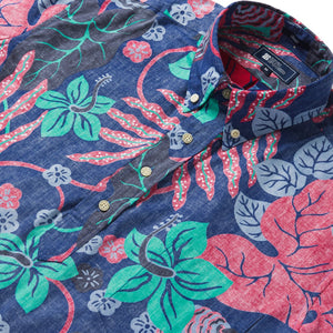 Reyn Spooner San Clemente Classic Fit Pullover Shirt in TWILIGHT BLUE