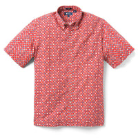 Reyn Spooner Koban Woodblock Classic Fit Button Front in CARDINAL