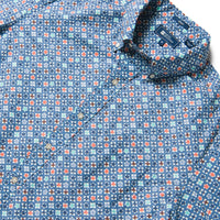 Reyn Spooner Koban Woodblock Classic Fit Button Front in TRUE NAVY
