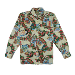 Reyn Spooner Hawaiian Christmas 2017 Classic Fit Long Sleeve Shirt in Natural