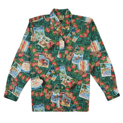 Reyn Spooner Hawaiian Christmas 2017 Classic Fit Long Sleeve Shirt in Emerald