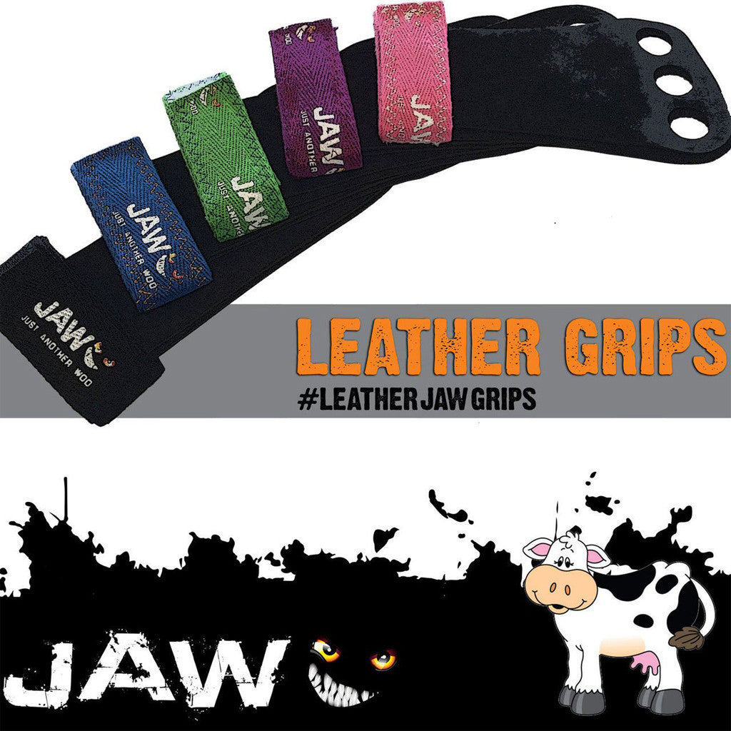 JAW Leather Pullup Grips