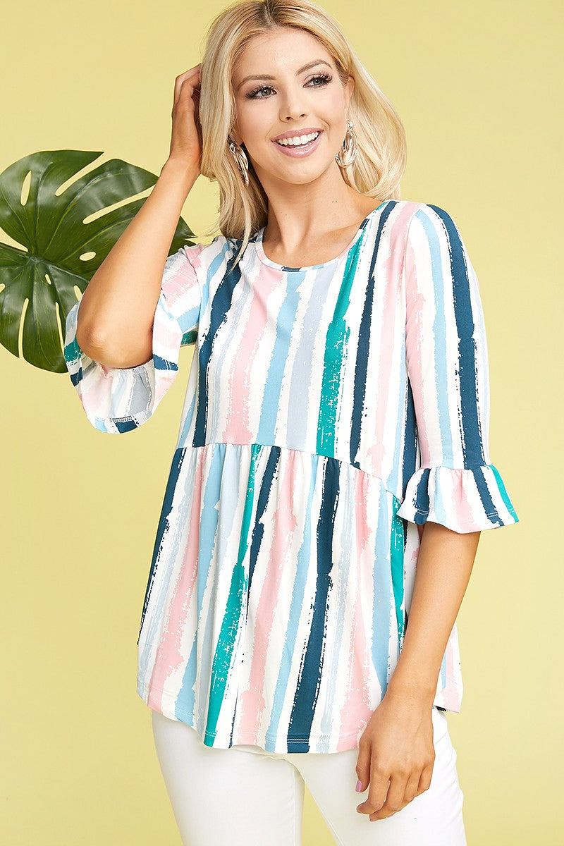 *SALE ITEM* Nature's Watercolor Top