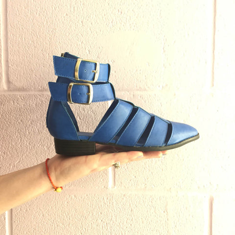 *SALE ITEM* Blue Strappy Booties